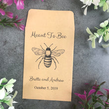 Load image into Gallery viewer, Personalised Meant To Bee Seed Wedding Favours Pack Of 12-6-The Persnickety Co