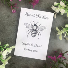Load image into Gallery viewer, Personalised Meant To Bee Seed Wedding Favours Pack Of 12-2-The Persnickety Co