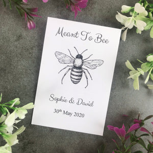 Personalised Meant To Bee Seed Wedding Favours Pack Of 12-2-The Persnickety Co