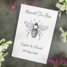 Load image into Gallery viewer, Personalised Meant To Bee Seed Wedding Favours Pack Of 12-5-The Persnickety Co