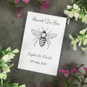 Personalised Meant To Bee Seed Wedding Favours Pack Of 12-4-The Persnickety Co