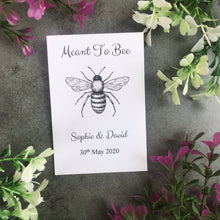 Load image into Gallery viewer, Personalised Meant To Bee Seed Wedding Favours Pack Of 12-The Persnickety Co