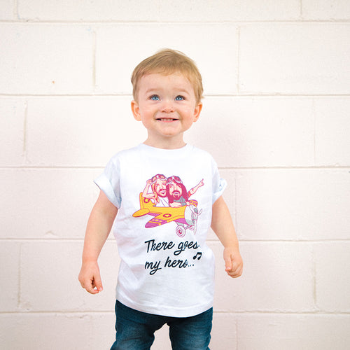 My Hero, My Dad Kids Youth Tee (White)