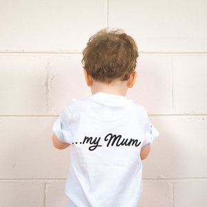 My Hero, My Mum Kids Youth Tee (White)