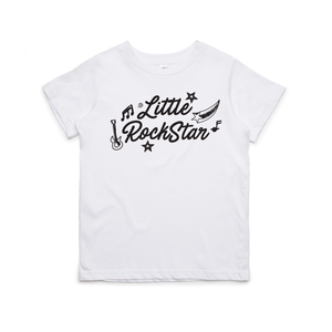 Little Rockstar Kids Youth Tee (White)
