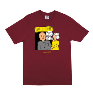 Shit Pub Tee (Burgundy)