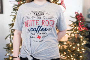 White Rock Coffee Gray Short Sleeved Shirt