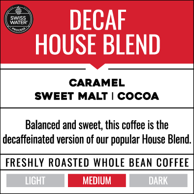 6 Month Gift Subscription - Decaf House Blend (12 bags total)
