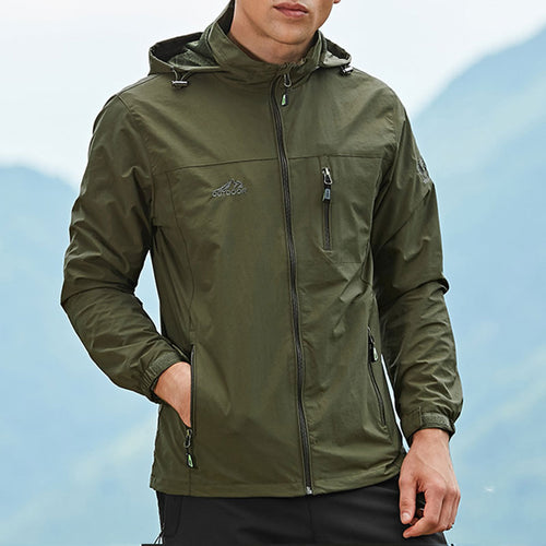 Outdoor Waterproof Cap Sport Mountaineering Men's Coat