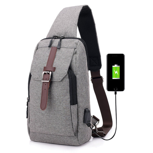 Smart Charging Motion Canvas Crossbody Bag