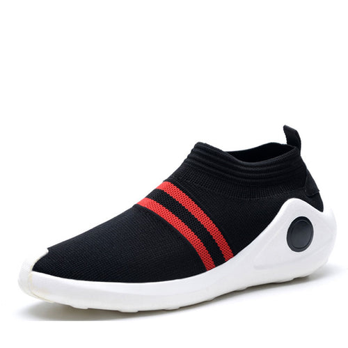 Set Foot Simple Breathable Flying Weaving Men's Sneakers