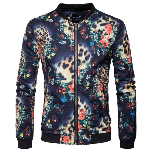 Printing Leisure Long Sleeve Printing Men's Coat