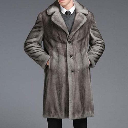 Street Turn-down Collar Single-Breasted Men's Trench Coat