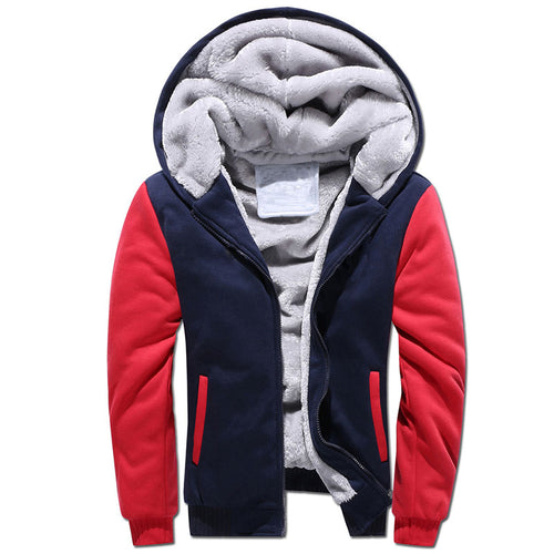 Round Neck Color Block Cotton Men's Sweatshirt