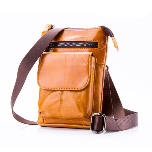 Multi Functional Texture Leather Crossbody Bag