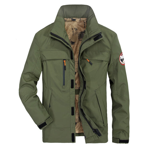 Stand Up Middle Long Style Men's Jacket