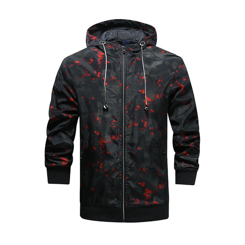 Camouflage Outdoor Sunscreen Men's Jacket