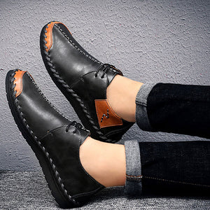 Business Splicing Thin Bottom Waterproof Men's Loafers