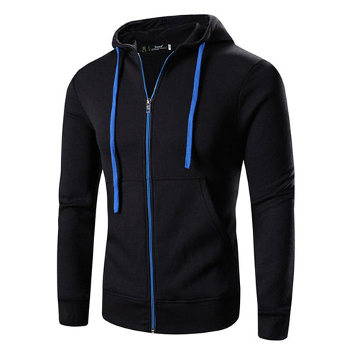 Comfortable Pure Color Zipper Men's Coat