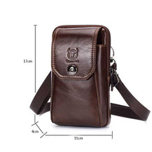 Leather Business Compact Mobile Phone Crossbody Bag