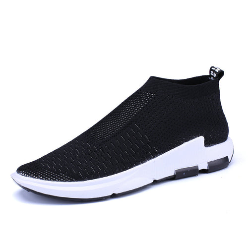 Flying Weave Elastic Strength Hole Men's Sneakers