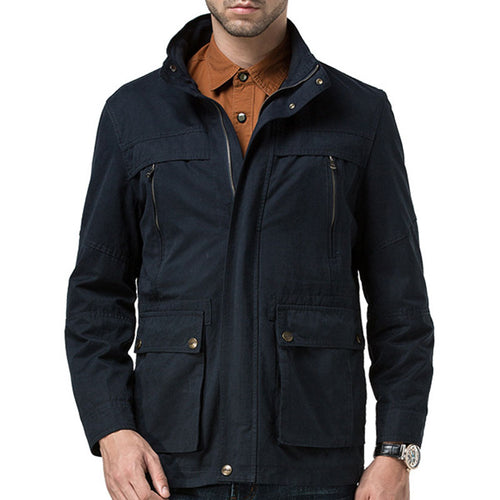 Recreational Multi-pocket Wash Men's Jacket