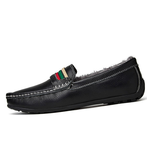 Lightweight Plush Round Toe European Men's Loafers
