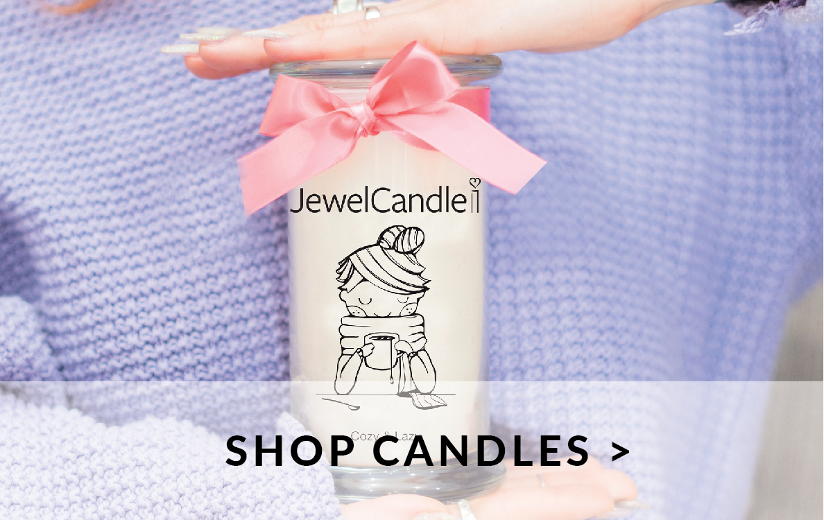 Candles with jewelry inside