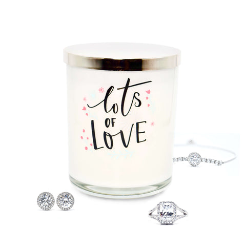 'Lots of Love' (LIMITED EDITION) Scented Candle with Hidden Jewelry