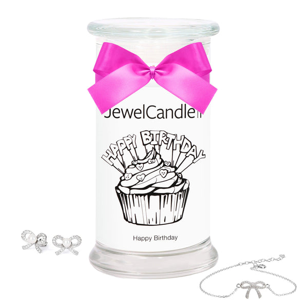 Happy Birthday - Scented Candle with Hidden Jewelry