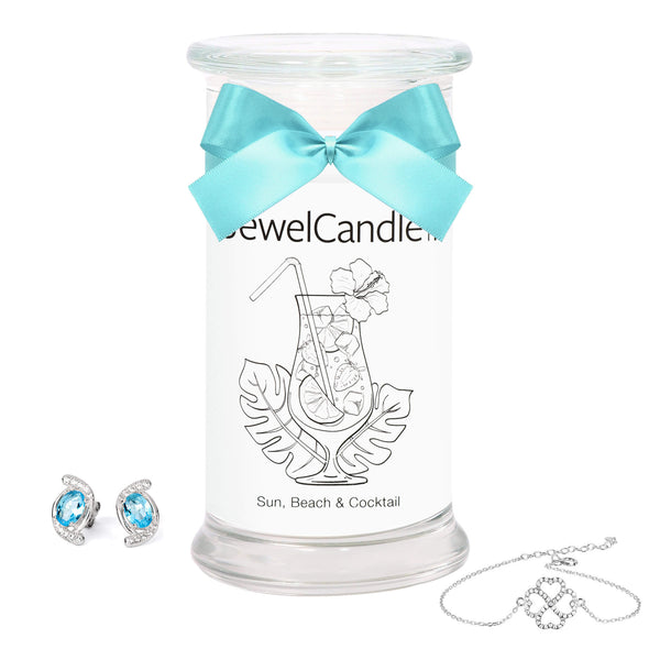Sun, Beach & Cocktail - Scented Candle with Hidden Jewelry