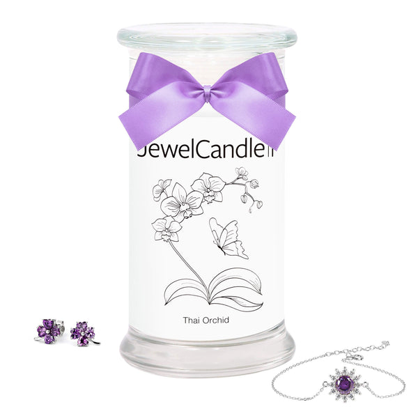Thai Orchid - Scented Candle with Hidden Jewelry