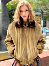 Mrs. Retro Roller Vintage Jacket (Brown)