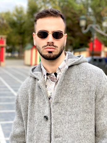 90s style vintage coat for men