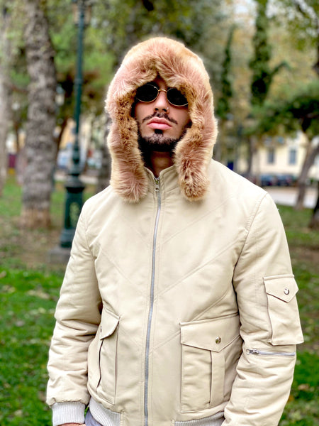 Mr. Pretty Flacko Vintage Jacket (Beige)