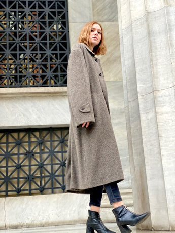 Mrs. Clouseau Vintage Coat (Beige)