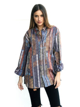 Mrs. Contemporary Vintage Printed Shirt for Women Front
