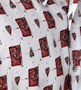 Mr. Abstract Vintage Printed Shirt for Men Print Details