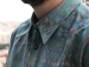 Mr. Impressionist Vintage Printed Shirt for Men Collar