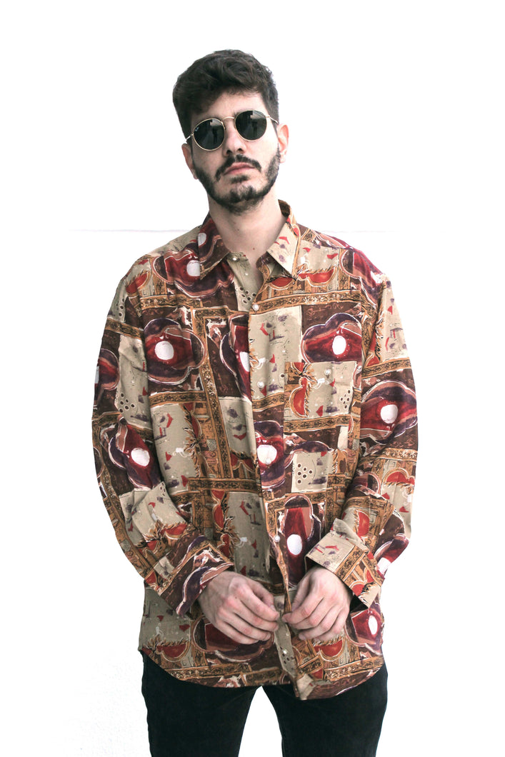 Mr. Abstract Vintage Printed Shirt for Men front