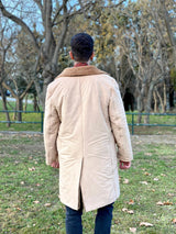 Vintage 1980s beige coat back side