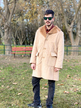 unique vintage coat for men with fur collar