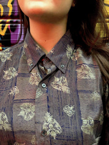 Mrs. Dreamcathcer Vintage Printed Shirt for Women Collar