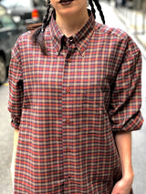 Mrs. Checkered (Red) Vintage Shirt