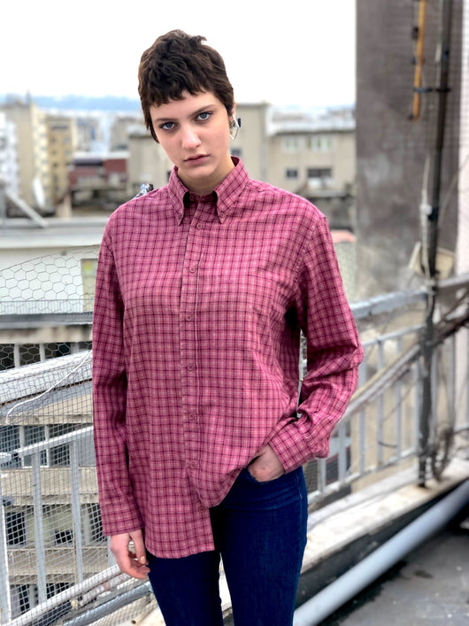 Mrs. Checkered (Pink) Vintage Shirt