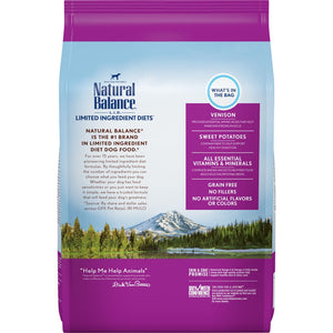 Natural Balance L.I.D. Limited Ingredient Diets Adult Maintenance Sweet Potato and Venison Dry Dog Food