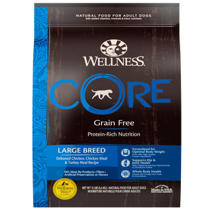 Wellness CORE Grain Free Natural Large Breed Health Chicken and Turkey Recipe Dry Dog Food