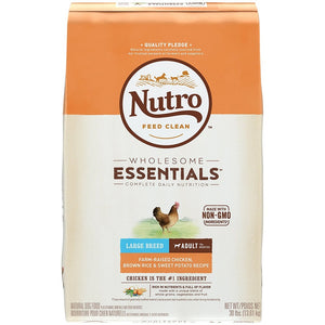 Nutro Wholesome Essentials Large Breed Adult Farm-Raised Chicken, Brown Rice & Sweet Potato Dry Dog Food