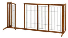 Load image into Gallery viewer, Richell Deluxe Freestanding Pet Gate with Door