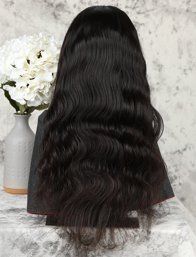 Body Wave Stock Wig Natural Color Human Hair Machine Made Wigs